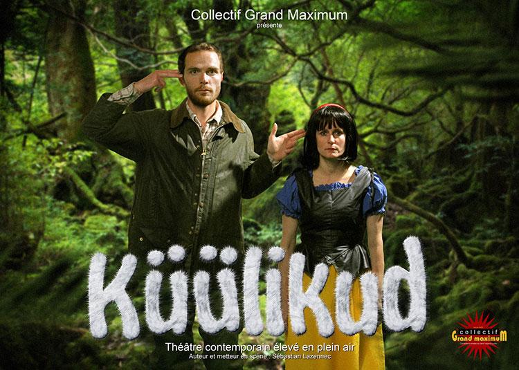 Grand maximum collectif de comédiens / Sebastian Lazennec / Théâtre contemporain elevé en plein air / Küülikud / Affiche